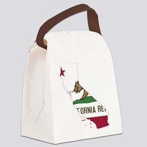 CALIFORNIA FLAG and STATE Canvas Lunch Bag