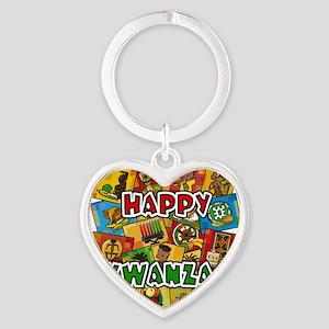 Happy Kwanzaa Collage Keychains