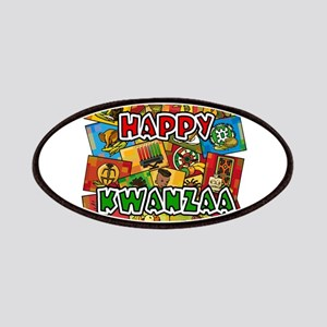 Happy Kwanzaa Collage Patches