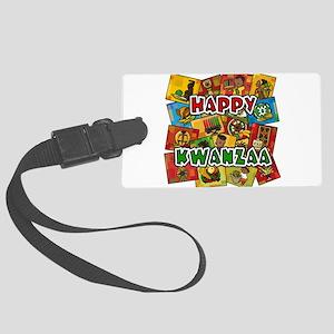Happy Kwanzaa Collage Luggage Tag