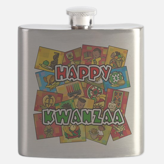 Happy Kwanzaa Collage.png Flask