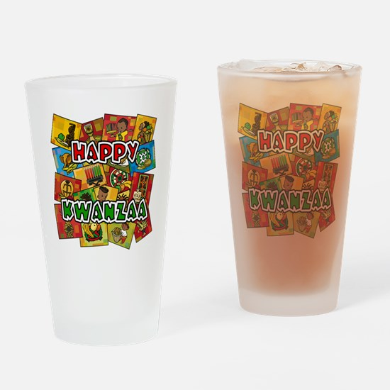 Happy Kwanzaa Collage.png Drinking Glass
