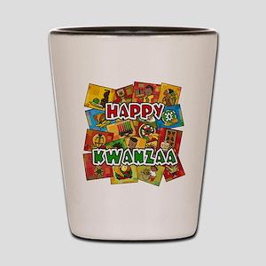 Happy Kwanzaa Collage Shot Glass