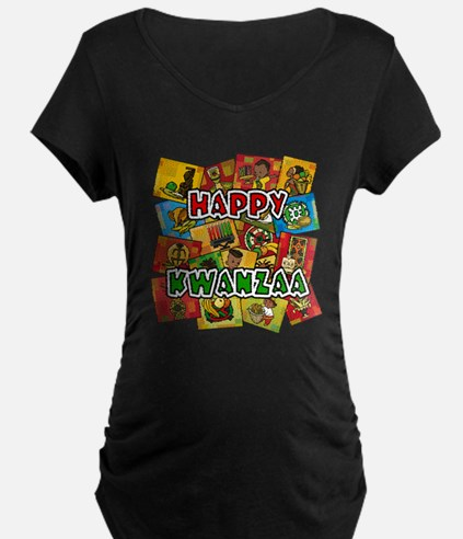 Happy Kwanzaa Collage.png Maternity T-Shirt