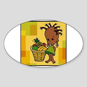 Baby Kwanzaa kid and fruit basket Sticker