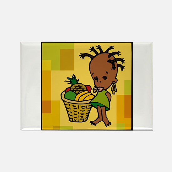 Baby Kwanzaa kid and fruit basket.png Magnets
