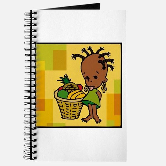 Baby Kwanzaa kid and fruit basket.png Journal