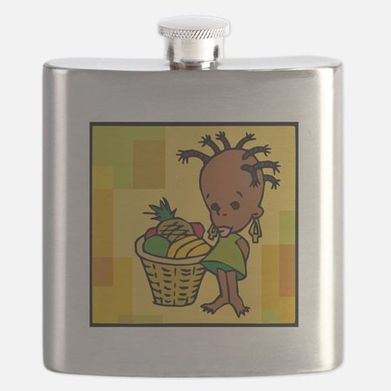 Baby Kwanzaa kid and fruit basket.png Flask