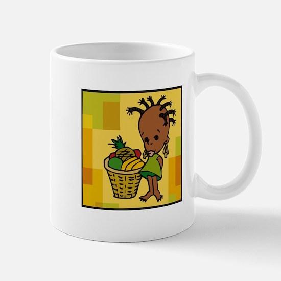Baby Kwanzaa kid and fruit basket.png Mugs