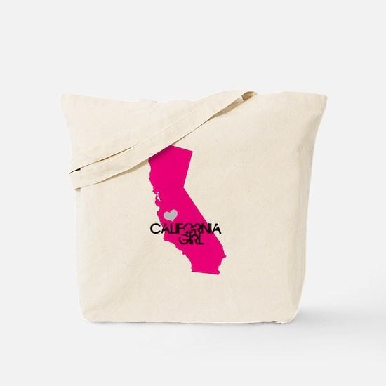 CALIFORNIA GIRL w HEART [4] Tote Bag