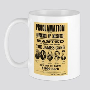 Wanted The James Gang Mug