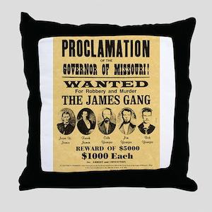 Wanted The James Gang Throw Pillow