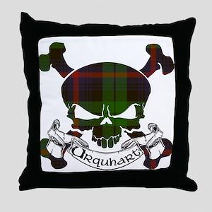 Urquhart Tartan Skull Throw Pillow