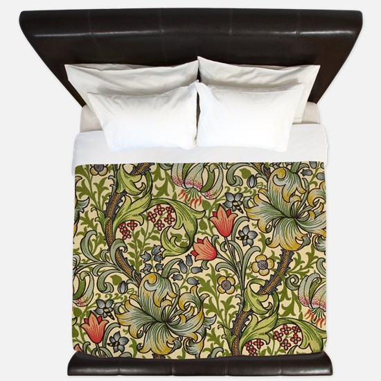 William Morris Golden Lily pattern King Duvet