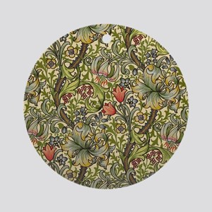 William Morris Golden Lily pattern Round Ornament
