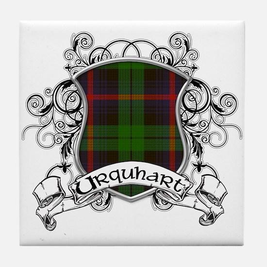 Urquhart Tartan Shield Tile Coaster