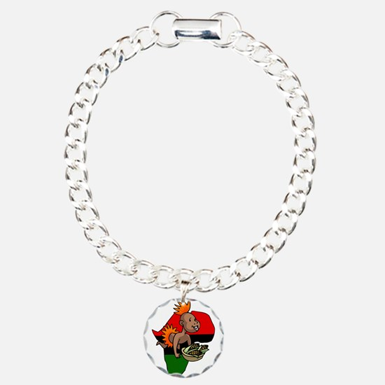 Kwanzaa Baby with Africa and corn.png Bracelet