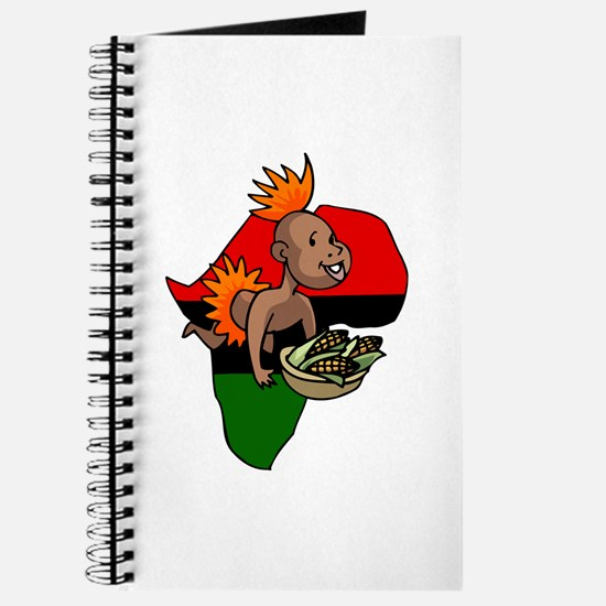 Kwanzaa Baby with Africa and corn.png Journal