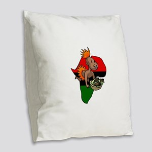 Kwanzaa Baby with Africa and corn Burlap Throw