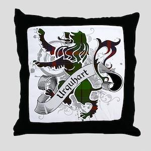 Urquhart Tartan Lion Throw Pillow