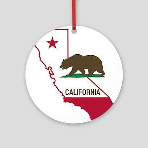 CALI STATE w BEAR Ornament (Round)