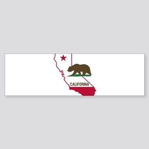 CALI STATE w BEAR Bumper Sticker