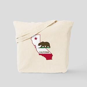 CALI STATE w BEAR Tote Bag