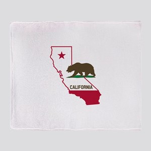CALI STATE w BEAR Throw Blanket