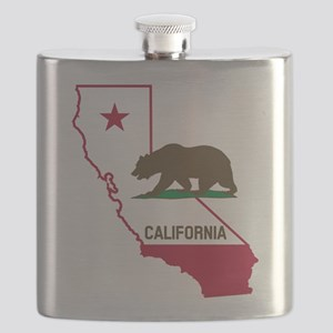 CALI STATE w BEAR Flask