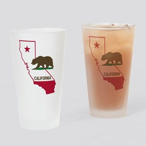 CALI STATE w BEAR Drinking Glass