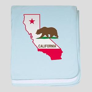 CALI STATE w BEAR baby blanket
