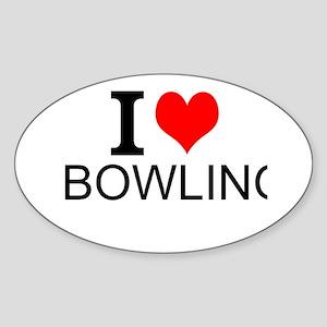 I Love Bowling Sticker