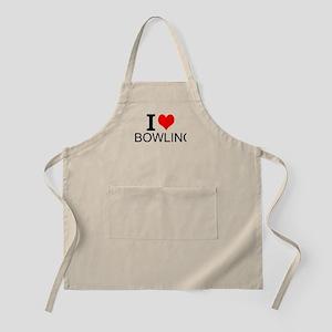 I Love Bowling Apron