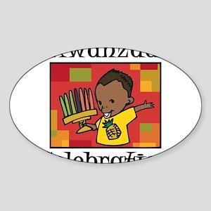 Kwanzaa Celebration boy Sticker