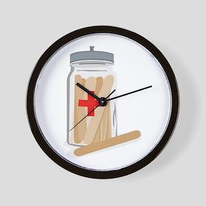 Tongue Depressors Wall Clock