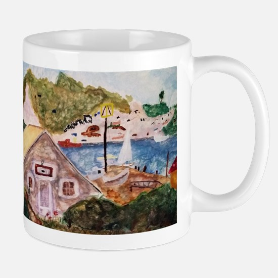 Seaside German Cottage Mugs