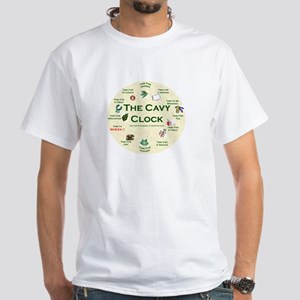 'The Cavy Clock' White T-Shirt
