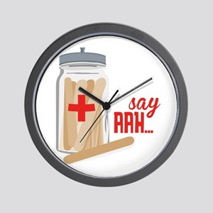 Say Aah... Wall Clock