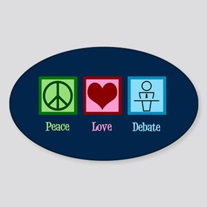 Debate Team Sticker (Oval)