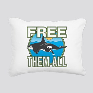Free Them All(Whales) Rectangular Canvas Pillow