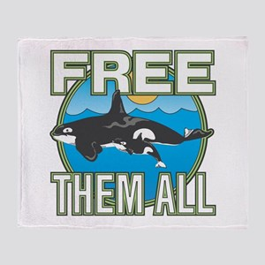 Free Them All(whales) Throw Blanket