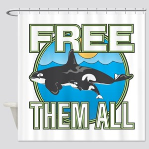 Free Them All(Whales) Shower Curtain