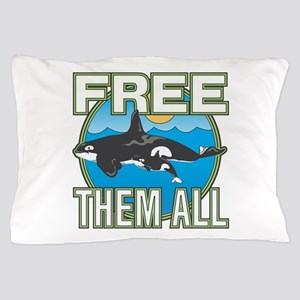 Free Them All(Whales) Pillow Case
