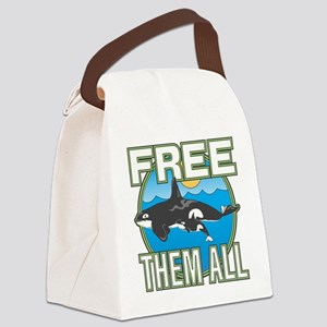 Free Them All(Whales) Canvas Lunch Bag