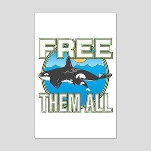 Free Them All(Whales) Mini Poster Print