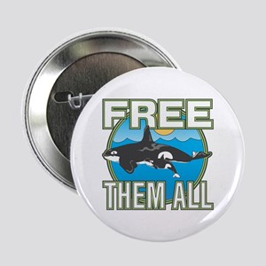 """Free Them All(Whales) 2.25"""" Button"""