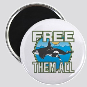Free Them All(Whales) Magnet