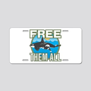 Free Them All(Whales) Aluminum License Plate
