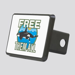 Free Them All(Whales) Rectangular Hitch Cover