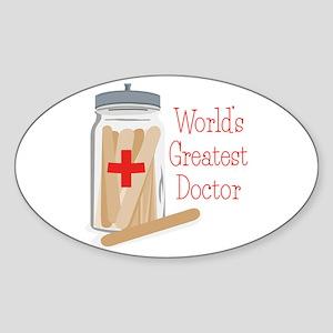 Worlds Greatest Doctor Sticker